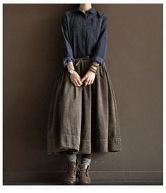 Awesome 37 Rustic Work Outfit Ideas To Wear This Winter To Try Mori Fashion, Modest Fashion, Fashion Outfits, Womens Fashion, Apostolic Fashion, Modest Clothing, Fashion Shoes, Mode Style, Style Me