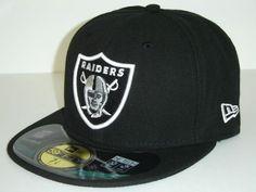 75e3d961b858e NewEra NFL Oakland Raiders Black Logo Cap 59fifty New Era