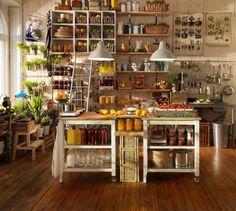 ikea kitchen island + baskets