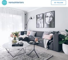 Love the colours of this room found on Instagram. Pinks, Greys and whites are so fresh looking! I can't wait to get a place of my own to start decorating! Instagram profile can be found above image if you wanna see more images :)