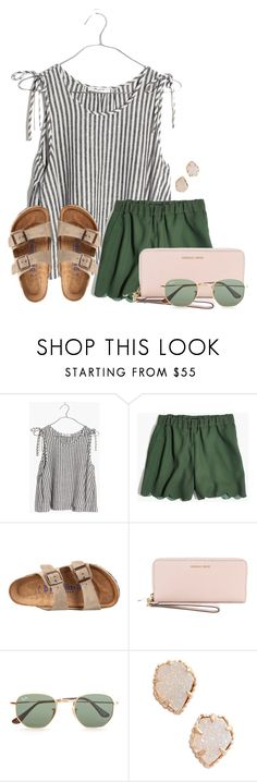 """Last day in Orlando :'("" by annaewakefield ❤ liked on Polyvore featuring Madewell, Birkenstock, MICHAEL Michael Kors, Ray-Ban and Kendra Scott"