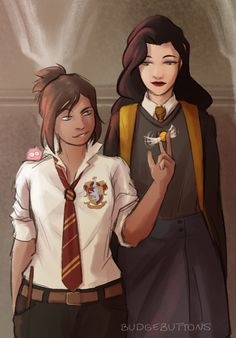 It's been a long time since I've Korrasami'ed! @bigspoonkorra here is your Puff Asami c: