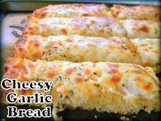 "Cut the Wheat, Ditch the Sugar: Cheesy Garlic Bread - this is a ""must try"" low carb and gluten free bread recipe!!!"