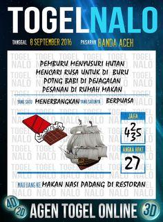 Prediksi Togel Online Live Draw 4D TogelNalo Banda Aceh 8 September 2016