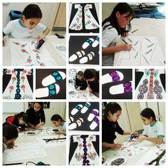 Geleneksel Türk Sanatlarında 5. sınıf öğrencilerimizle Türk Sanatları motiflerini kullanarak kaftanlar tasarladık. Öğrencilerimiz geleneksel motifleri öğrenerek tek bir motifin tekrarı ile nasıl tasarım yapılacağını öğrendiler.