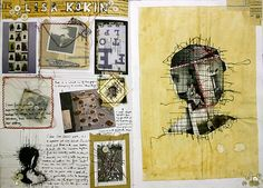 mixed media photography sketchbook: