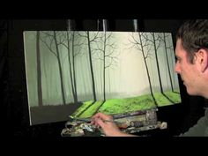 Tim Gagnon show painting via timelapse video. Really cool and fast painting lessons!
