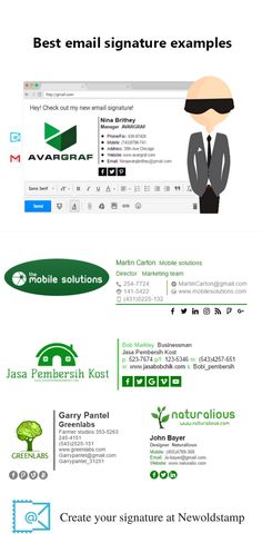 Professional and beautiful email signatures | Business email ...