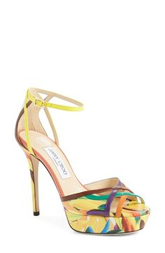 Jimmy Choo 'Laurita' Ankle Strap Platform Sandal available at #Nordstrom