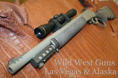 WWG CoPilot- This lever action rifle chambered in .457 will also shoot 45/70 and 410ga. It has been cerakoted FDE, has all of the Wild West Guns parts and is a take down.