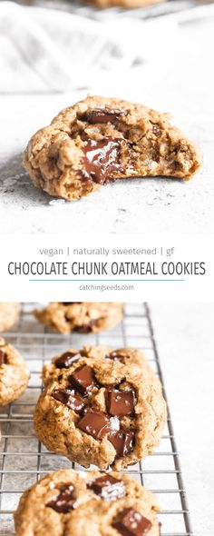 Chocolate Chunk Oatmeal Cookies have crispy edges and a soft center studded with. - Chocolate Chunk Oatmeal Cookies have crispy edges and a soft center studded with melty chocolate.