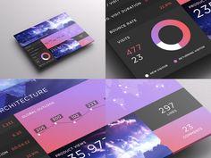 SJQHUB™ // Visual Data UI Dashboard by Jonathan Quintin, via Behance