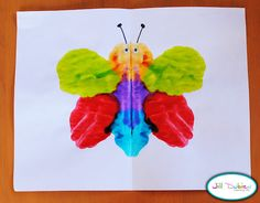 Mirror Image Butterflies. Fun, beautiful, and teaches about symmetry.