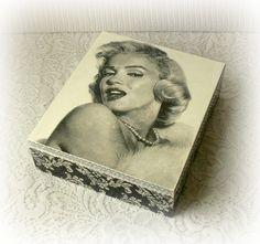 Cream Shabby Chic Wooden Jewelry Box Pinterest