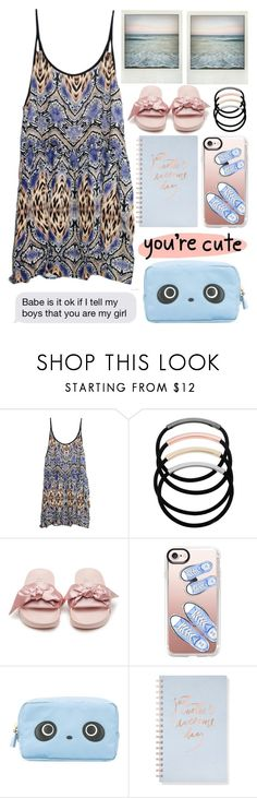 """""""You're Cute"""" by emcf3548 ❤ liked on Polyvore featuring MINKPINK, Polaroid, L. Erickson, Puma, Casetify, Anya Hindmarch and Fringe"""