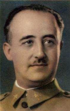 Este apuesto militar, General Francisco Franco, es el máximo artífice de la Guerra Civil Española (1936-1939) y de la malvada dictadura que ennegreció el destino de los españoles hasta 1975. Y todavía hay quien le venera... ¡En que asco de mundo vivimos!