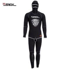 SLINX 1301 5mm Two-Piece Wetsuit Warm w/Headgear Scuba Diving SpearFishing Snorkeling Ultra Angler