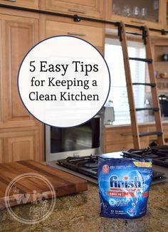 Keeping your kitchen clean is easy with these 5 simple tips. http://www.wicproject.com/review/5-easy-tips-for-keeping-a-clean-kitchen/ #FinishMaxIn1