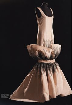 1984 silk taffeta dress embroidered with crystal beads by Roberto Capucci