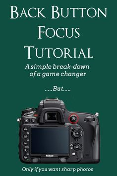 Beginner photography tutorial on back button focus. Learn to use back button focus. A great skill for beginner photographers. Dslr Photography Tips, Photography Lessons, Photography For Beginners, Photography Tutorials, Photography Business, Creative Photography, Digital Photography, Photography Equipment, Landscape Photography