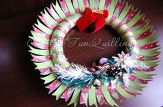 FunQuilling: Christmas wreath tutorial