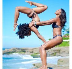 For Two: The Beauty of Acro-Yoga Acro-yoga poses to inspire you.Acro-yoga poses to inspire you. Couples Yoga Poses, Acro Yoga Poses, Hatha Yoga, Yoga Poses For Two, Yoga Moves, Iyengar Yoga, Yin Yoga, Partner Yoga, Yoga Inspiration