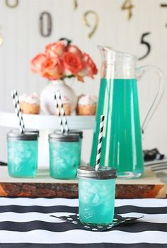 Have your guests sip out of mason jars as your signature cocktail