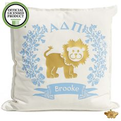 Sorority Logo Cushion - Alpha Delta Pi