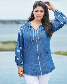 Embroidered Boho tunic. #fullbeauty