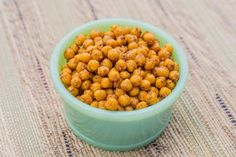 Roasted Chick Peas - This party appetizer has a fraction of the fat found in nuts but is just as snackable.