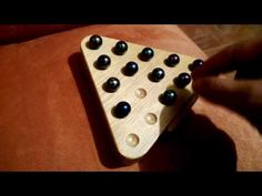 Otra manera de resolver el come solo - YouTube Drawing Images For Kids, Marble Games, Wood Games, Wood Toys, Pyrography, Games For Kids, Triangle, Projects To Try, Woodworking