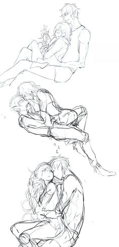 Cuddling/sleeping fiolee sketches