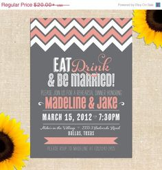 MEMORIAL DAY SALE Be Married Rehearsal Dinner Invitation - Printed Invitations or Printable Files on Etsy, $16.47 AUD