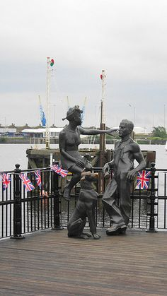 People Like Us ~ John Clinch Tacoma Square, Mermaid Quay, Cardiff Bay, Cardiff, Wales. The sculpture celebrates the people who lived and worked in Cardiff docks during the late and early century. Visit Cardiff, Cardiff Bay, Cardiff Wales, Wales Uk, South Wales, Beast's Castle, Visit Wales, Famous Castles, Statues