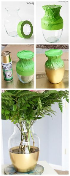 Spray Paint Projects That Give Life To New Objects - Top Dreamer Home Crafts, Diy Home Decor, Diy And Crafts, Spray Paint Projects, Diy Projects, Diy Home Cleaning, Craft Club, Gold Diy, Dollar Tree Crafts