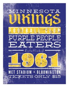 Vikings Football Print