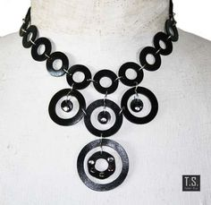 Circle rubber necklace by TSRUBBER on Etsy, $65.00