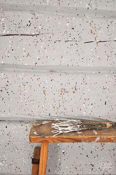 L U N D A G Å R D | inredning, familjeliv, byggnadsvård, lantliv, vintage, färg & form: Att stänkmåla en vägg