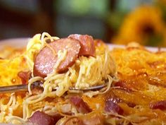 Get this all-star, easy-to-follow Three Meat Pasta recipe from Paula Deen