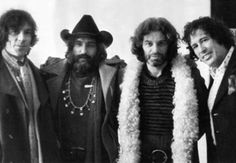 Film-makers Donald Cammell, Dennis Hopper, Alejandro Jodorowsky and Kenneth Anger, London, 1971