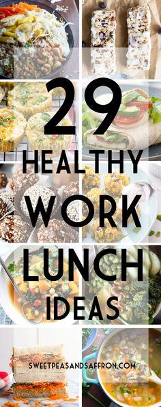 29 Healthy Work Lunch Ideas | sweetpeasandsaffron.com @necie83