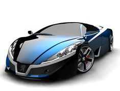 Oooolala! Love the shape of this quick blue car.., hehehe.., só podia ser Peugeot!!