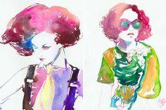 Stylishly Sketched Stationery : Fashion Illustration Art