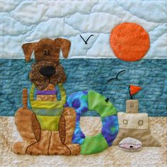 Airedale Rescue Quilting Bee - July block