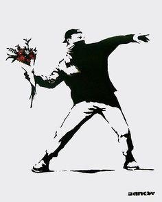 Flower Bomber, Offset Lithograph, BANKSY