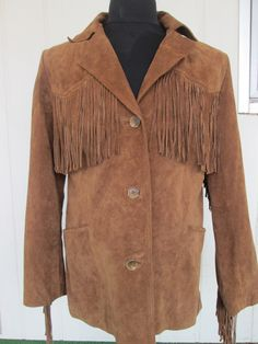 100% Leather Jacket with Fringe Outerwear $100.00 Coming soon on https://www.etsy.com/shop/BADTIQUE or http://stores.ebay.com/BADINFLUANCE55-COLLECTIBLES