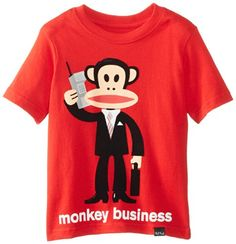 a7fe8afeb7a Paul Frank Little Boys Toddler Monkey Business TShirt Red 2T     More info  could