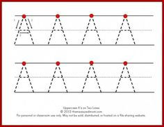 WEEKLY LETTER PRACTICE Tracing large letters on two lines. This is an excellent resource with lots of other educations materials that you can print for help with teaching preschoolers. Preschool Writing, Preschool Letters, Learning Letters, Alphabet Activities, Preschool Learning, Kids Writing, Letter Tracing Worksheets, Printable Preschool Worksheets, Alphabet Tracing