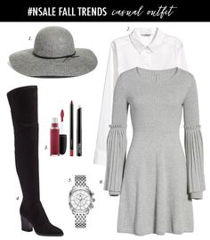 Daily Style Finds: Five Outfit Ideas for Christmas Day Outfits With Hats, Simple Outfits, Fall Outfits, Church Outfits, Blush Skirt, Pink Pleated Skirt, Floppy Hat Outfit, Chambray Top, Striped Cardigan
