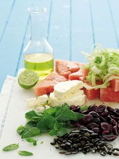Watermelon and feta salad - fresh and fruity!